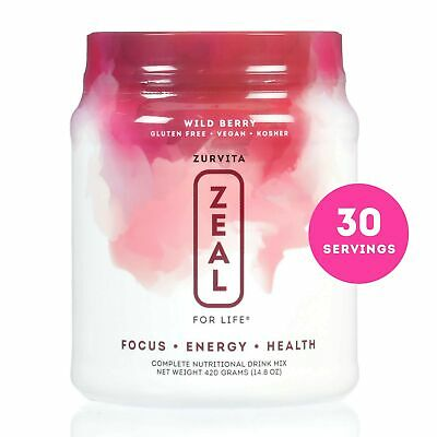 Zurvita- Zeal for Life- 30-Day Wellness Canister- Wild Berry- 420 grams New