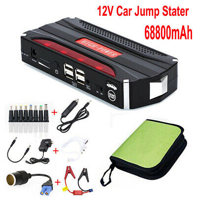 12V 68800mAh Car Jump Starter Vehicle Booster Battery Charger 4 USB Power Bank