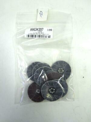 """Lot Of 10 Superior 80 Grit 1-1/2"""" Spin-On Overlap Discs 13230 NEW"""