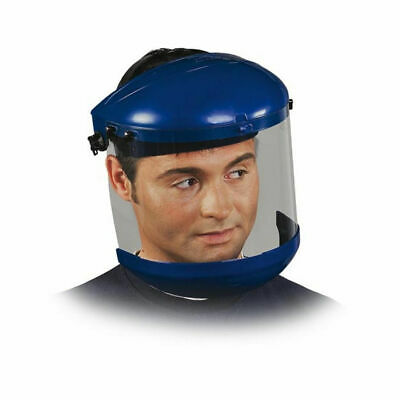 Face Protector with Fold-Out Visor Flip-Up Helmet Shields Eye Blue