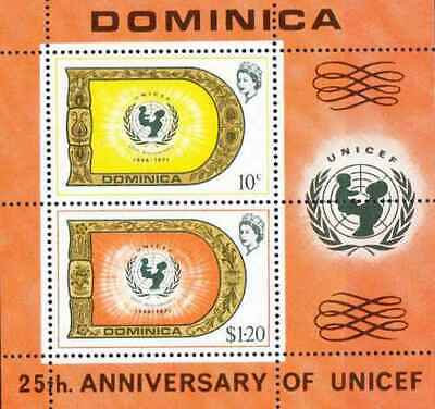 Timbres Enfance UNICEF Dominique BF9 ** (36742)