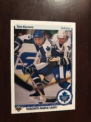 1990-91 Upper Deck #160 - Tom Kurvers - Toronto Maple Leafs