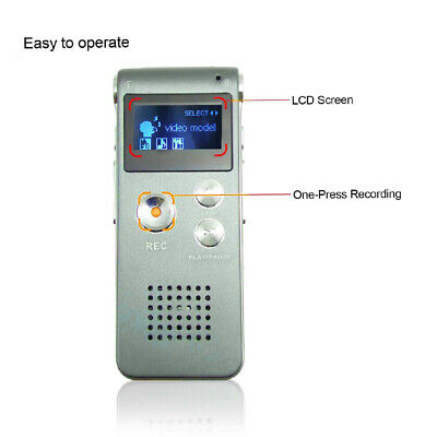 Paranormal Ghost Hunting Equipment Digital Voice Activated Recorder 8GB C6T7Q