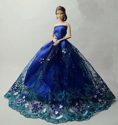 Fashion Party Princess Dress Wedding Clothes/Gown For 11.5 inch Doll a02