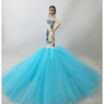 Fashion Party Princess Dress Wedding Clothes/Gown For 11.5 inch Doll a03