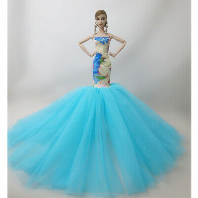 Fashion Party Princess Dress Wedding Clothes/Gown For 11.5 inch Doll a06