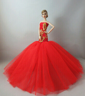 Fashion Party Princess Dress Wedding Clothes/Gown For 11.5 inch Doll a08