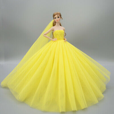 Fashion Party Princess Dress Wedding Clothes/Gown+veil For 11.5 inch Doll a14