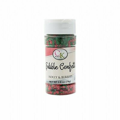 Christmas Holly & Berries Edible Confetti- 73.7gm Baking Decoration Supplies