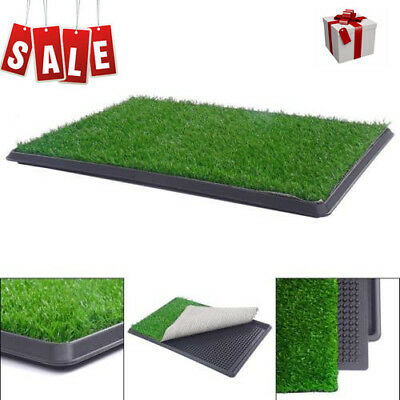 """Pet Potty Toilet Trainer Grass Mat Dog Puppy Training Pee Patch Pad Tray 30 ×20"""""""