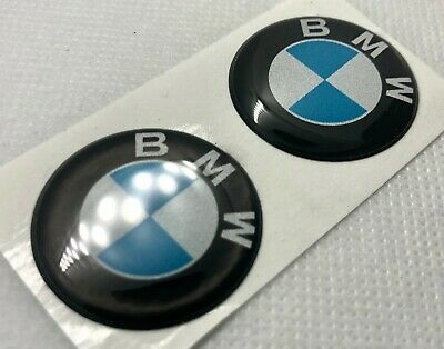 2pcs. BMW Light Reflective Logo 3D Domed Sticker. Size 30mm.