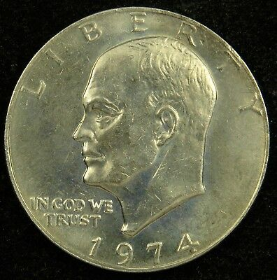 1974 P D Uncirculated Clad Eisenhower Ike Dollars Combined Shipping