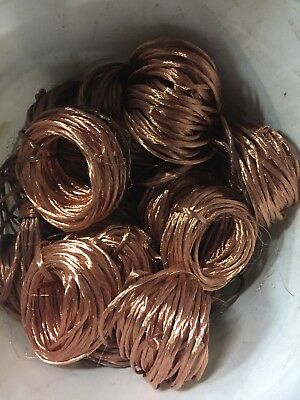 5 Lbs Clean Bare Scrap Copper Wire For Crafts Jewelry Melt