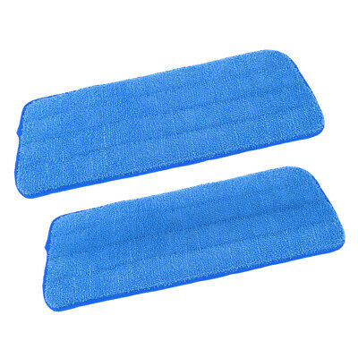 2 Pcs/Set Microfiber Mop Cloth for Wet Dry Floor Cleaning and Scrubbing Blue