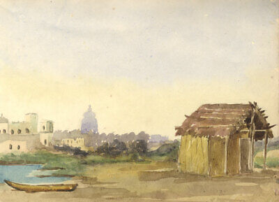 Early 20th Century Watercolour - Hut