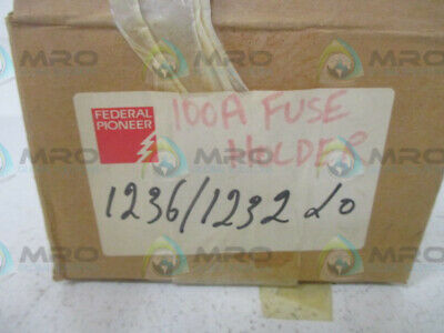 Federal Pioneer 1236/1232 Fuse Holder 100A * New In Box *