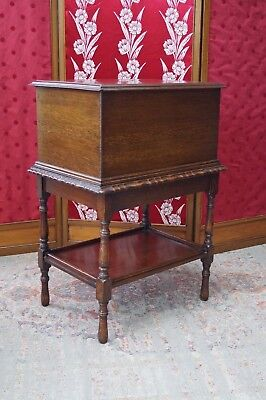 Antique Oak Sewing Box Chest Scottish - We Can Deliver