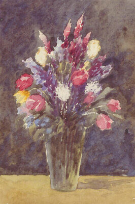 English School Early 20th Century Watercolour - Floral Still Life with Tulips