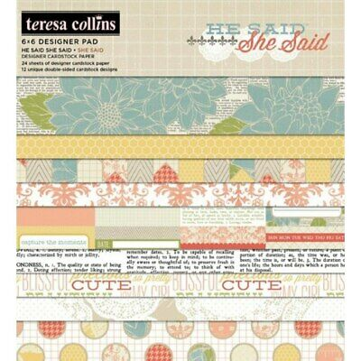 "Paper pad for scrapbooking 6 ""x 6"" - She Said 