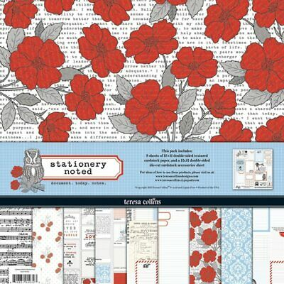 "Scrapbooking paper kit - 12 ""x 12"" - 10 double-sided sheets - Stationary Note..."
