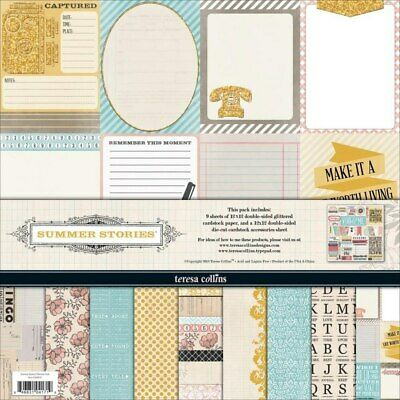 "Scrapbooking paper kit - ""12x12"" - 10 double-sided sheets - Summer Stories 