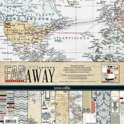 """Scrapbooking paper kit - """"12x12"""" - 10 double-sided sheets - Far and Away 