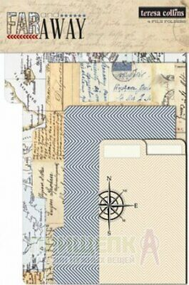 File Folder for scrapbooking albums - Far Away theme travel | Teresa Collins