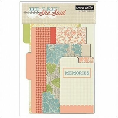 File Folder for scrapbooking albums - She Said | Teresa Collins
