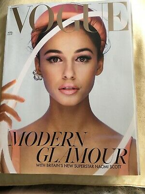 Vogue April 2019 UK British NAOMI SCOTT COVER FEATURE - LENA HEADEY
