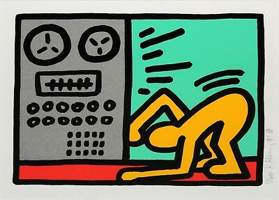 Keith Haring - Pop Shop III - 1989 Original Hand signed Serigraph on Paper MINT