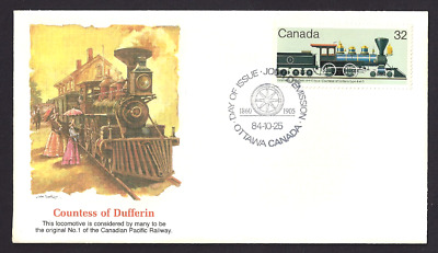 Canada   # 1037   Fleetwood Canadian Locomotive Cover     New 1984 Unaddressed