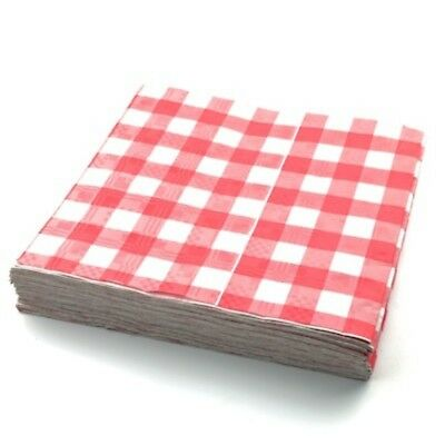 Red & Whte Gingham Paper Table Cloths 5 10 15 20 25 Party Tablecloths Covers