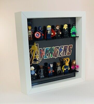 Minifigure Display Frame Lego Marvel Avengers minifig figures invisible range