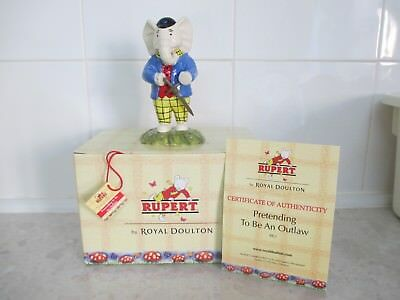 Royal Doulton Rupert The Bear Collection.pretending To Be An Outlaw.brand New