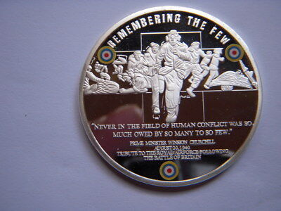 2010 S/Plated Proof Coin In Capsule To Com The Battle Of Britain With Coa  [50]