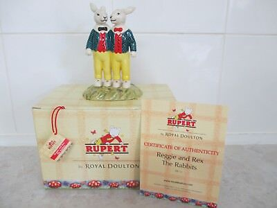 Royal Doulton Rupert The Bear Collection.reggie And Rex The Rabbits.brand New