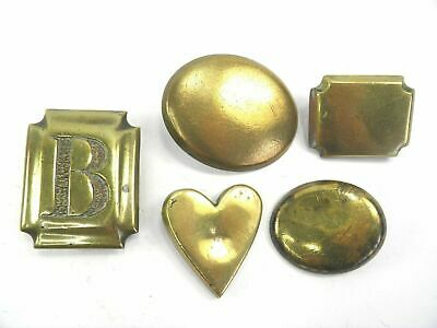 Antique 19th century collection of brass horse carriage harness decorations