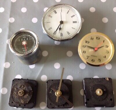 Vintage Clock Parts Movements Incl Smiths Hour Meter From Clockmakers Collection