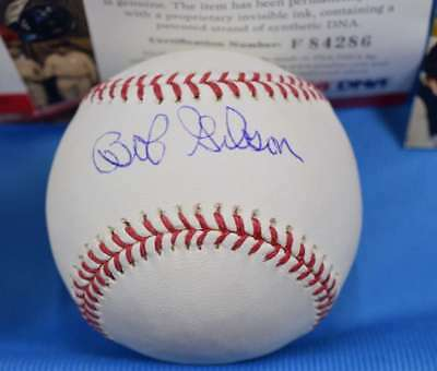 "Bob Gibson Signed Mlb Baseball W/ ""2x Cy Young"" Insc. Baseball-mlb Sports Mem, Cards & Fan Shop"