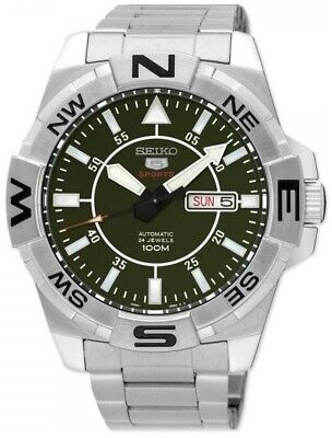 SEIKO SRPA59K1 5 Sports Automatic Day/Date Steel WR 100M 2 Year Guar RRP £250