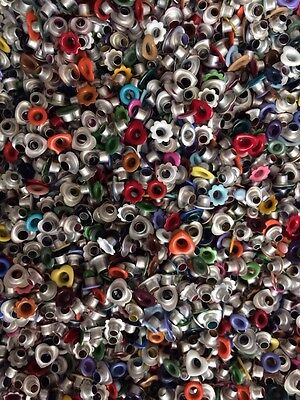 Lot of 1000+ Mixed Size Eyelets Embroidery Hearts Flowers Circles Ovals