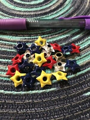 "Lot of 100 Star Mix 3//16"" Eyelets Embroidery Embellishment I Combine Ship"