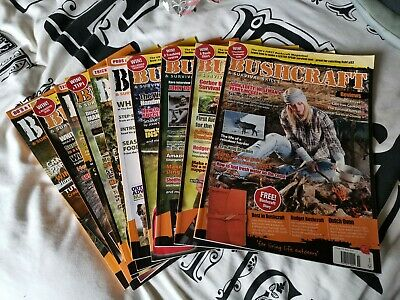 Bushcraft Magazine issues 32, 34,35,40,41,43,44,45,46,47