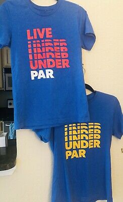 2c98236ca2 Lot of 2 PGA TOUR Live Under Par T shirts Yellow and Red on Blue Men's