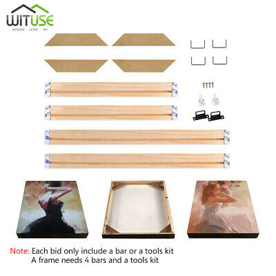 DIY Sturdy Frame Wood Bar Stretcher Strip For Canvas Prints Gallery Wall Art 5B