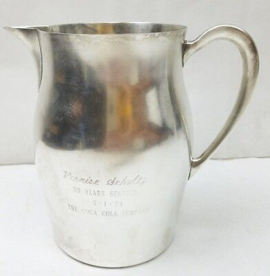 "Paul Revere Reproduction by Poole 7"" Sterling Silver Water Pitcher Jug 20.7oz."