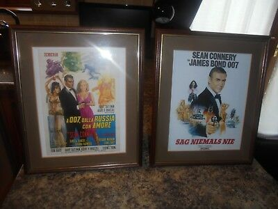 James Bond Sean Connery German And Italian Framed Movie Prints