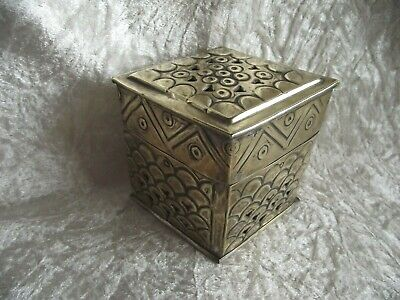 Pretty Silver Plated Pot Pourri Pomander Container tin