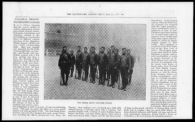 1897 Antique Print - AFRICA Sierra Leone Frontier Police Military Troops (02)