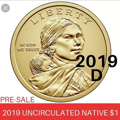 2019 D Sacagawea Native American Uncirculated Dollar Space Program